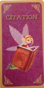 Verso Carte citation Conseils de fées le coffret de Valérie Motté